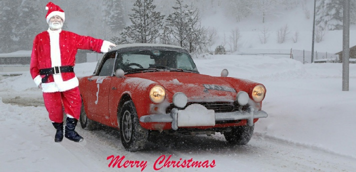 Father Christmas and Sunbeam Alpine
