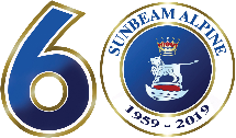 Sunbeam Alpine 60th Anniversary logo
